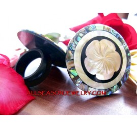 flower carving rings shell
