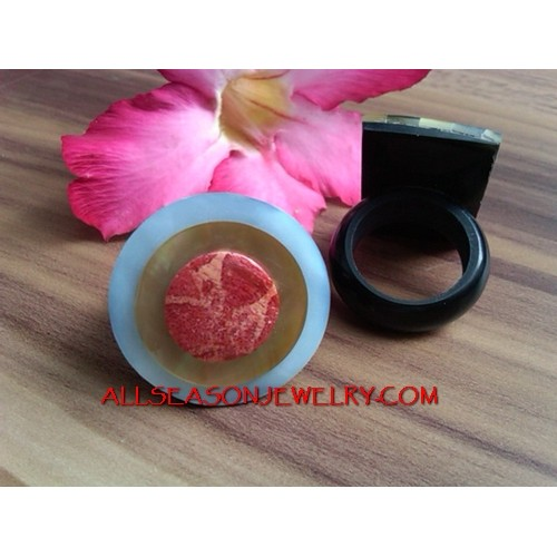 Bali Resin Rings Shell