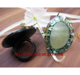 Mother Of Pearls Abalone Ring