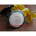 Nautilus Shells Ring Abalone