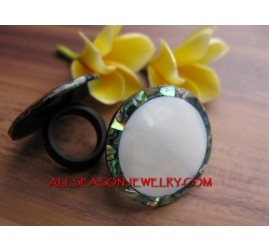 Organics Shells Ring Abalone