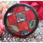 Paua Coral Shell Ring Handmade Resin