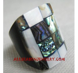 Paua Ring Seashell