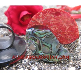 Paua Seashell Finger Ring Handmade Bali