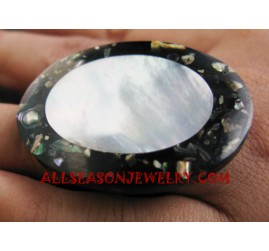 Paua Seashell Rings