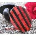 Red Coral Seashells Rings