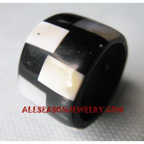 Resin Seashells Ring