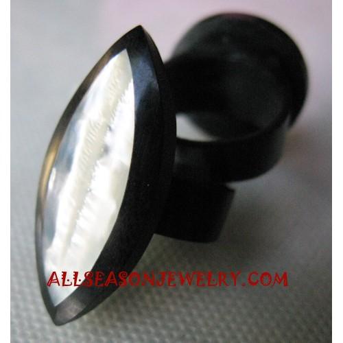 Resin Seashells Rings