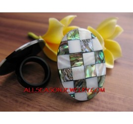 Abalone Ring Women Design
