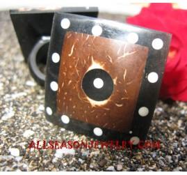 Wooden Coconut Palm Finger Ring Handmade