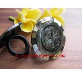 Carved Rings Shells Fashion