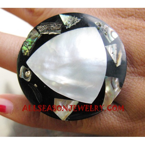 Seashell Rings Paua