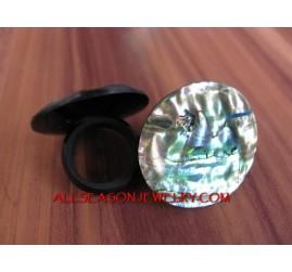Seashell Abalone Rings