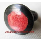 Shell Coral Rings Red Resin