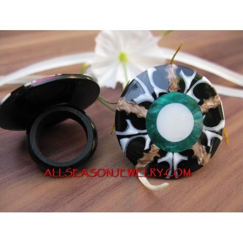 Fashion Shell Organic Rings