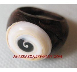 Shell Wooden Rings
