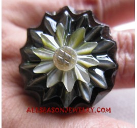 Wooden Shell Ring Hand Carving