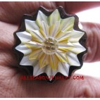 Wooden Shells Ring Hand Carving