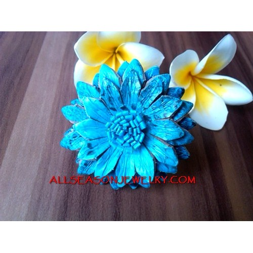 Flower Leather Ring