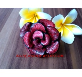 Rose Leather Rings
