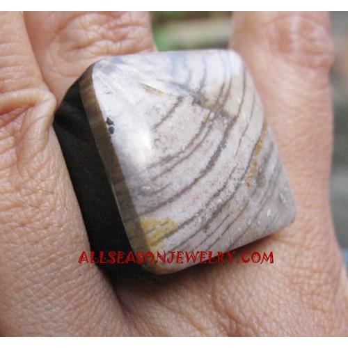 Nature Stone Rings