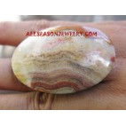 Oval Finger Rings Balinese Stone