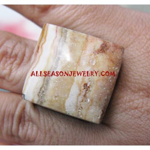 Unique Rings Stone Organic