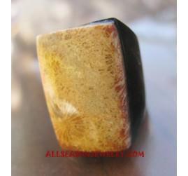 Organic Stone Rings Bali