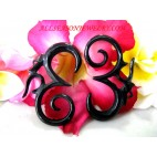 Tribal Piercing Black Horn Faux Gauges ears