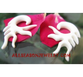 Bone Earrings Carvings
