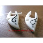 Bone White Earring Fake Gauge Tatto Hanger
