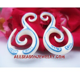 Bone Tribal Earrings