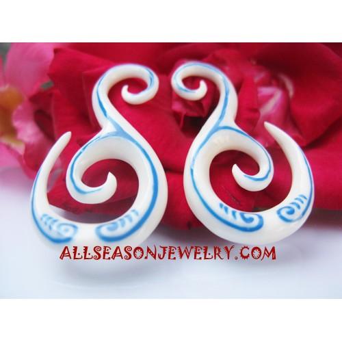 Bone Tribal Earrings