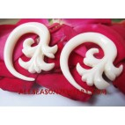 Fake Gauge Bone Carving Expander Piercing Ear