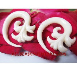 Fake Gauge Bone Carving Expander Piercing Ear