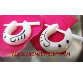 Earring Tribal Piercing White Bone Tattoo Small