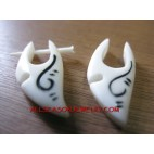 Bone Carving Earring