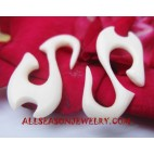 Natural Earrings Bone