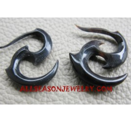 Carved Horn Earring Tribal