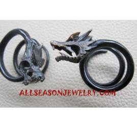Carved Horn Earrings