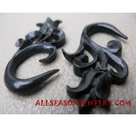 Carved Tribal Earrings