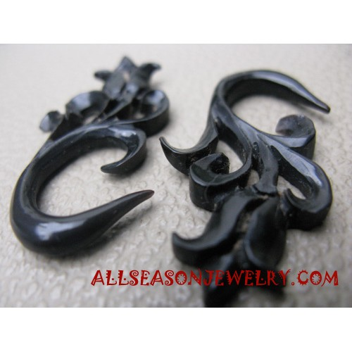 Carved Tribal Earrings