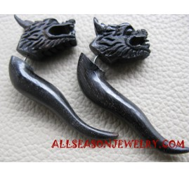 Dragon Hand Carving Tribals Earring Fake Gauges Design