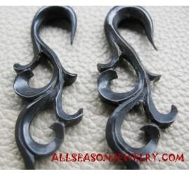 Carvings Horn Earrings
