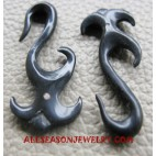 Earrings Horn Carved