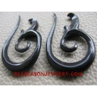 Earrings Horn Carving Fake Gauge Handmade Bali