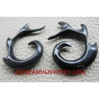 Earrings Horn Carvings