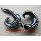 Horn Earring Tribal Tattoo
