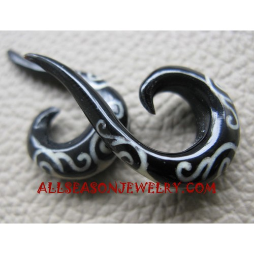 Horn Earring Tribal Tattoo