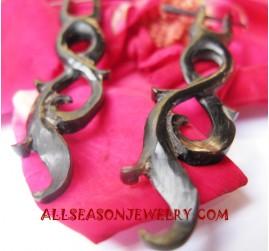 Horn Earrings Carvings